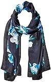 Calvin Klein Women's Floral Border Silk Scarf, Cypress, One Size