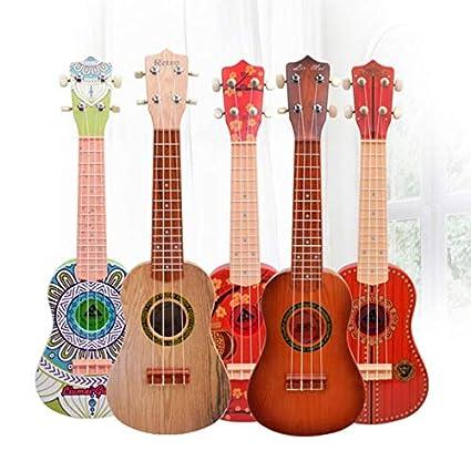 DishyKooker Guitarra eléctrica de Madera con 4 Cuerdas, Instrumentos ...