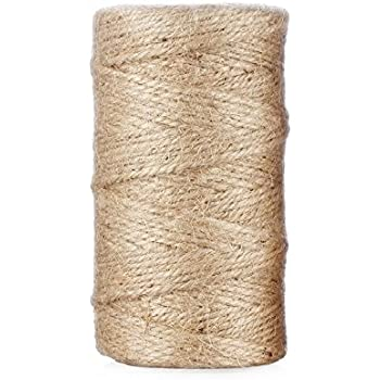 Natural Jute Twine String for Crafts and Gardening Applications (300 Feet)