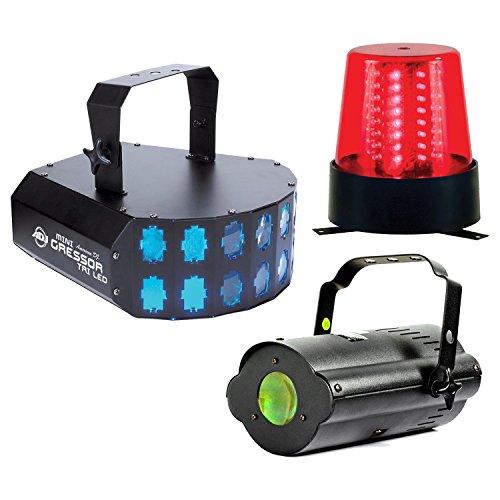 American DJ LED Party Pak 2 Mini Gressor Tri, Tri Gem, & B6R