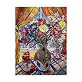 Trademark Fine Art Glass Strawberry by Lorraine Platt, 18x24-Inch