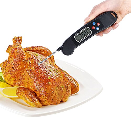 Digital Meat Talking Thermometer Cooking Thermometer with Instant Read LCD Screen, Hold Function for Food Meat Candy Milk Water BBQ Grill Smoker