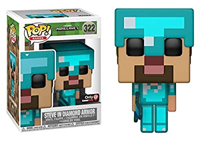 Funko POP! Games: Minecraft - Steve in Diamond Armor Exclusive