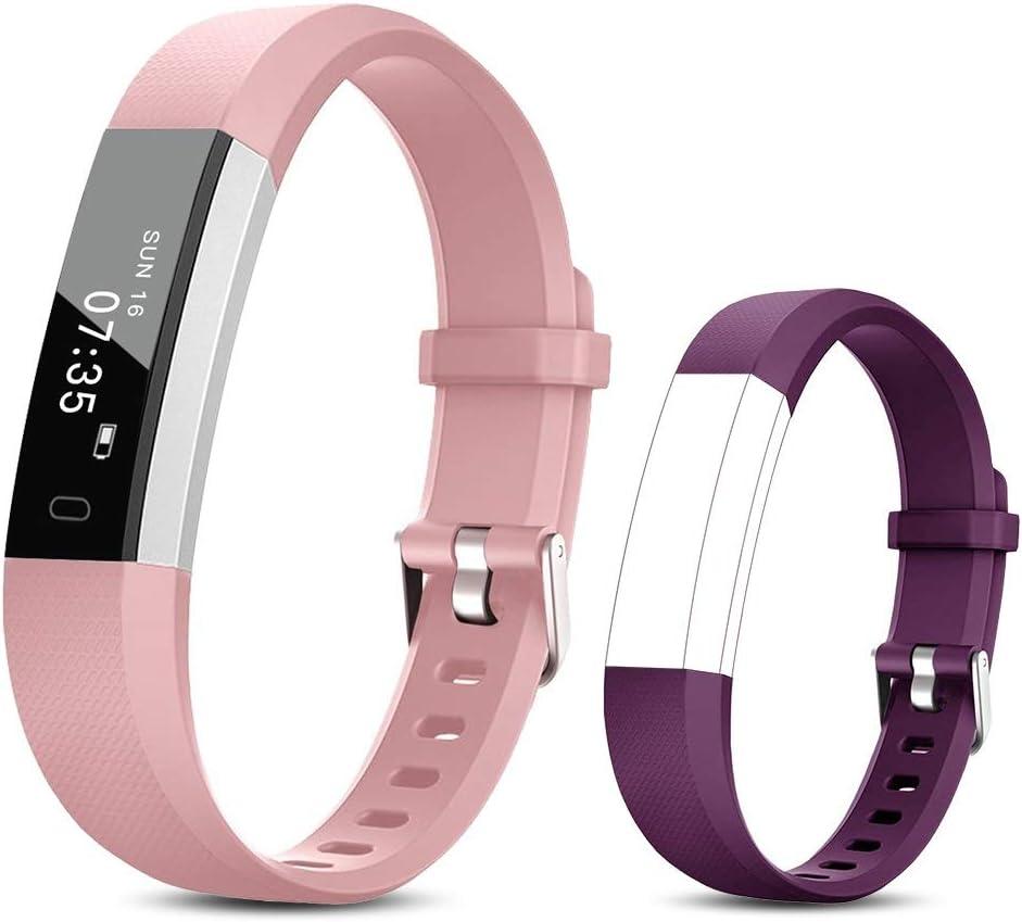 TOOBUR Reloj Inteligente para Mujer Hombre Niños, Pulsera Actividad con Cuenta Pasos y Calorias, Podómetro Smartwatch Impermeable IP67 con Monitor de Sueño y Despertador Vibrador