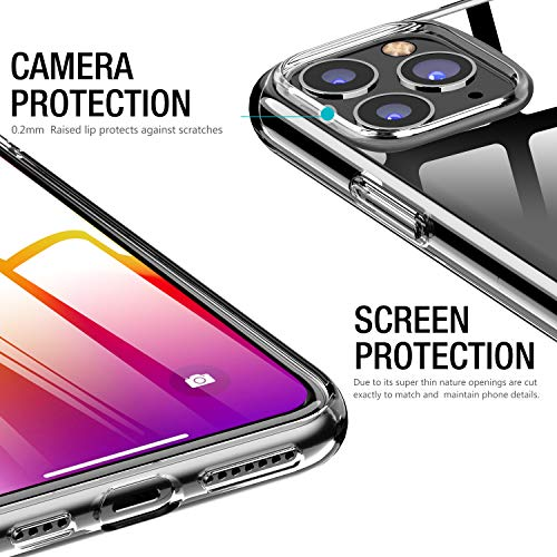 TOZO for iPhone 11 Case 6.1 Inch (2019) Premium Clear Soft TPU Gel – Transparent Flexible Cover for iPhone 11 with Clear
