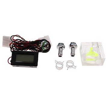 SM SunniMix Termómetro LED Medidor De Flujo de 3 Vías para Sistema De Refrigeración Líquida De