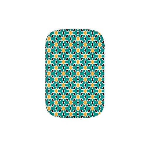 Arabic Oriental Geometric Shapes Lines with Pastel Middle East Art Persian Portable Charger 6000mAh Power Bank External Battery Backup Pack Fast Charger for iPhone,Samsung Galaxy and More