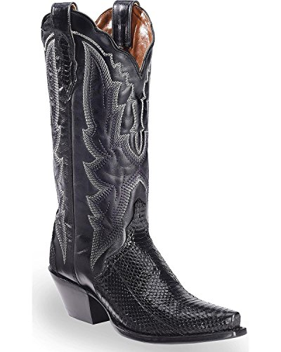 Dan Post Women's Water Snake Triad Cowgirl Boot Snip Toe Black 9 M (Black Western Water Boots)