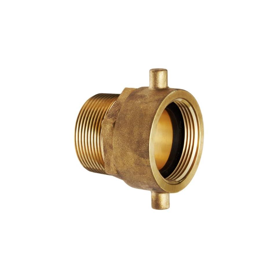 Moon 363 1511561 Brass Fire Hose Adapter, Pin Lug Swivel, 1 1/2 NPSH Swivel Female x 1 1/2 NPT Male