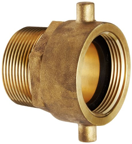 - Moon 363-1511561 Brass Fire Hose Adapter, Pin Lug Swivel, 1-1/2