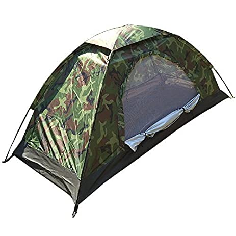 Compact camouflage c&ing tent Sorotento hoochie disaster emergency [outdoor one-person tent  sc 1 st  Amazon.com & Amazon.com : Compact camouflage camping tent Sorotento hoochie ...