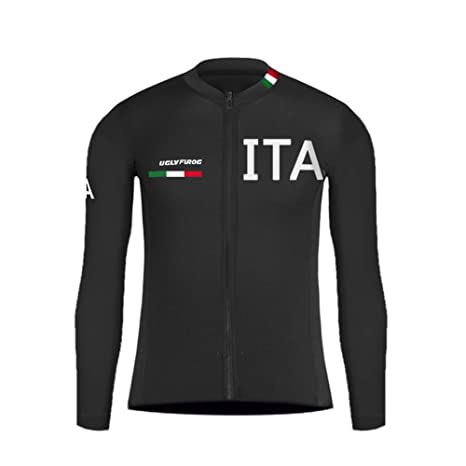 6dcaef91a27fd0 Uglyfrog Magliette Uomo Bici Jersey Manica Lunga Ciclismo Magliette Inverno  Style Cycling Shirt MTB Strada Uomo