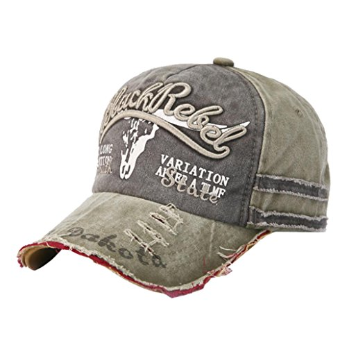Adj Cap Khaki - KFSO Unisex Adjustable Plain Cap Vintage Army Military Cadet Style Cotton Hat (Khaki)