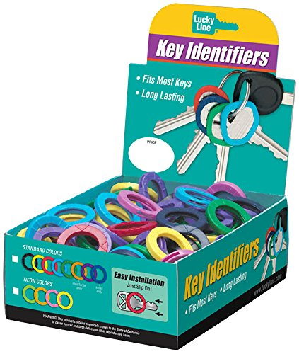 Lucky Line Key Identifier Large, 150 Count Box, Assorted Colors (16615) ()