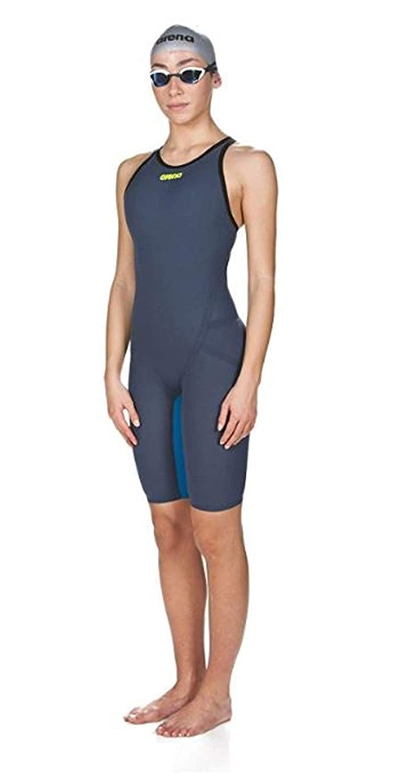 Navy Grey//Cyan//Fluo Yellow 28 ARENA Womens Powerskin Carbon Flex Vx Fbsl Open Back Racing Swimsuit
