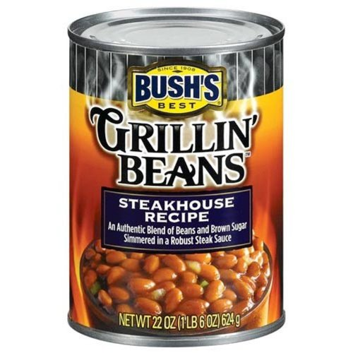 Bush's Grillin Steakhouse Beans, 22-Ounce (Pack of 6)