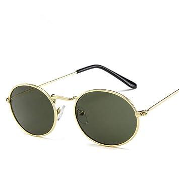 Liuao Oval Diseñador de Marca Mujeres Hombres Gafas de Sol ...