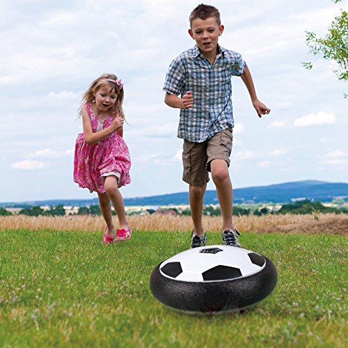 Hover Soccer-Air Soccer Hover Ball Toys with 2 Goals-Hover Soccer Ball Set with Colorful LED Lights for Kids Indoor and Outdoor