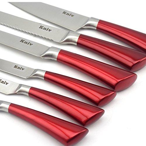 Amazon.com: kniv Juego de cuchillos con bloque, 12 piezas ...