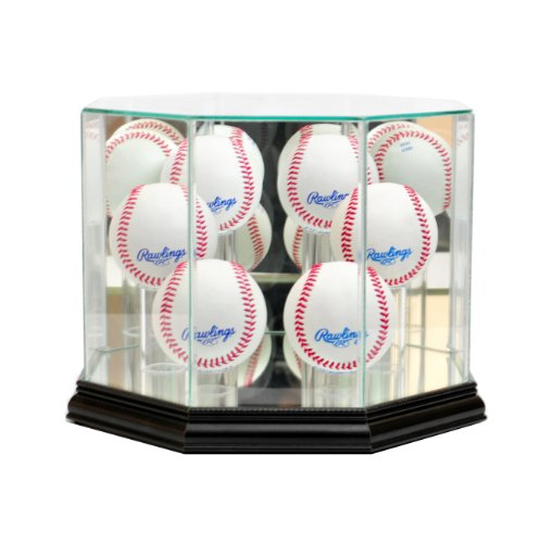 - Perfect Cases MLB Octagon 6 Baseball Glass Display Case, Black