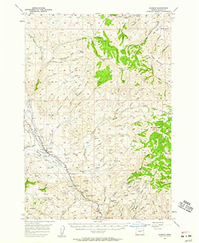 Gold Sardine Fork - YellowMaps Durkee OR topo map, 1:62500 Scale, 15 X 15 Minute, Historical, 1957, Updated 1959, 20.8 x 17 in - Paper
