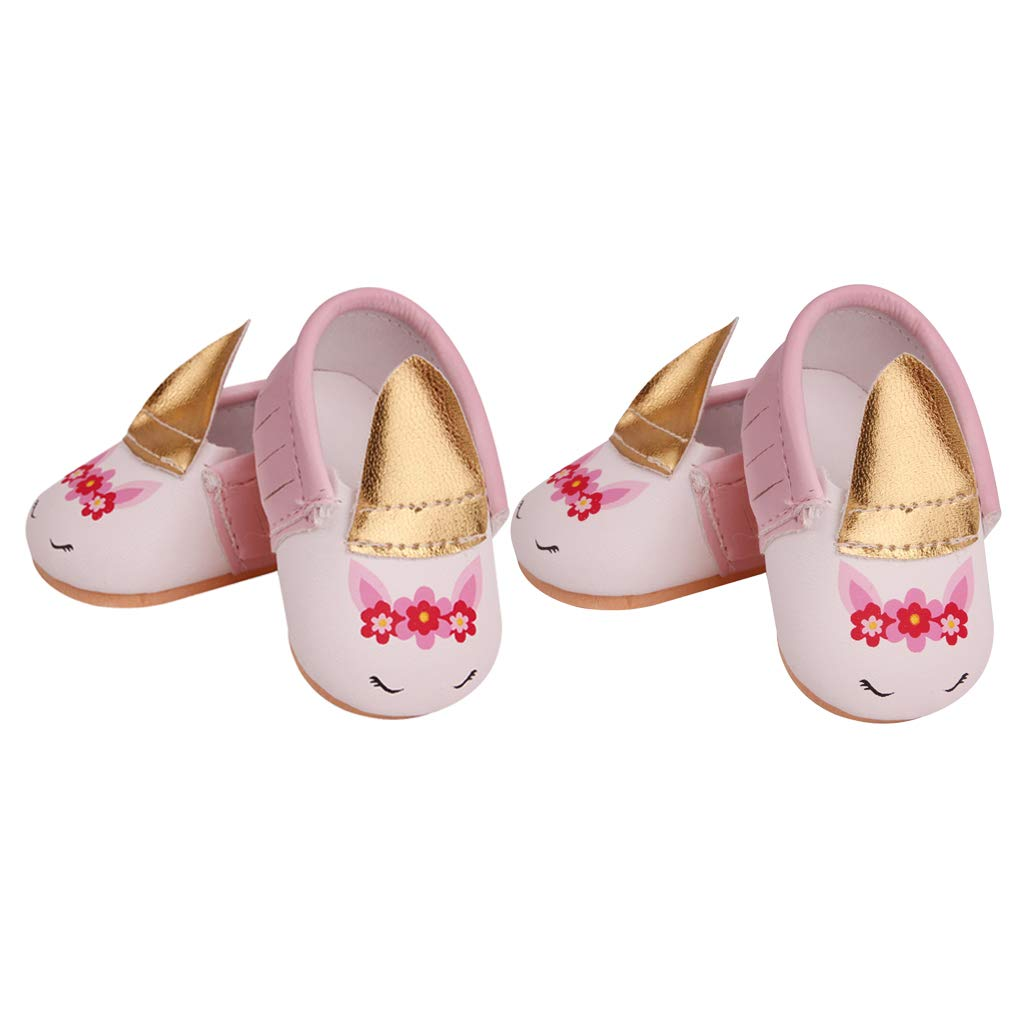 2 Pairs Pu Leather Bunny Ear Shoes Flats For 18 Inch American Doll Accessories Amazon Com Au Toys Games