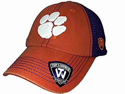 Top of the World Clemson Tigers TOW Orange Purple Crossroads Mesh Adjustable Snapback Hat Cap by Top of the World