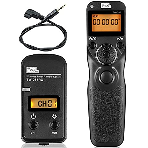 Pixel TW-283 S1 Wireless Shutter Release Remote Control For Sony Digital SLR A560 A580 A290 A390 A450 A55 A33 A500 A550 A850 A900 A350 A300 A200 A700 A100 (5 Channel Slt Transmitter)