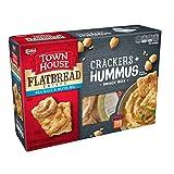 Keebler, Town House Flatbread Crisps, Crackers and Hummus Snack Box, Sea Salt
