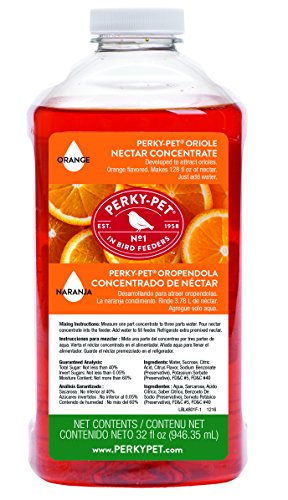 Perky-Pet 4801 Oriole Nectar Concentrate, 32-Ounce (32 Oz Oriole Feeder)