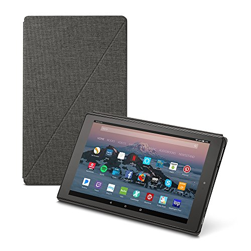 Amazon Fire HD 10 Tablet Case (7th Generation, 2017 Release), Charcoal Black (Tablets 50 Dollars)