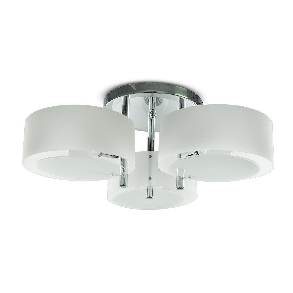 Lámpara de techo -Homelava Lámpara de techo con 3 Luces Techo luz E27 para Salón, Comedor, Habitacion [Clase de eficiencia energética A++]