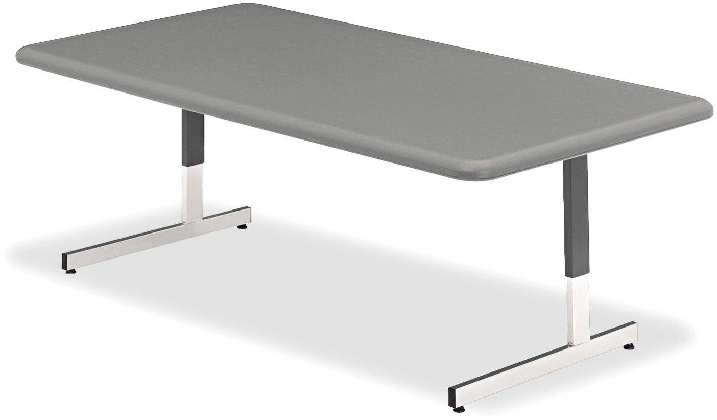 Iceberg ICE65737 IndestrucTable TOO Adjustable Height Resin Utility Table, 48'' Length x 24'' Width, 21''-31'' Height, Charcoal