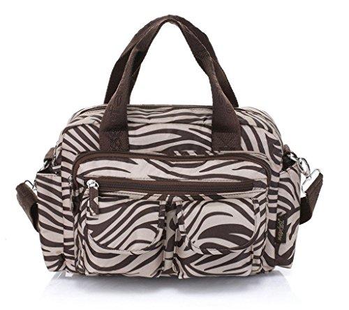 MSF generosa Capacidad 4piezas cambiador de bebé Set de bolso Zebra Stripes Zebra Stripes