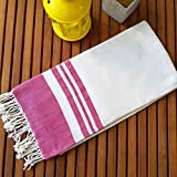 Secret Sea Collection Lightweight 100% Bamboo Beach & Bath Towel 70'' x 35'' (Cupcake Pink)