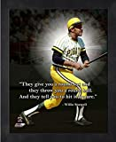 """Willie Stargell Pittsburgh Pirates ProQuotes Photo (Size: 12"""" x 15"""") Framed"""
