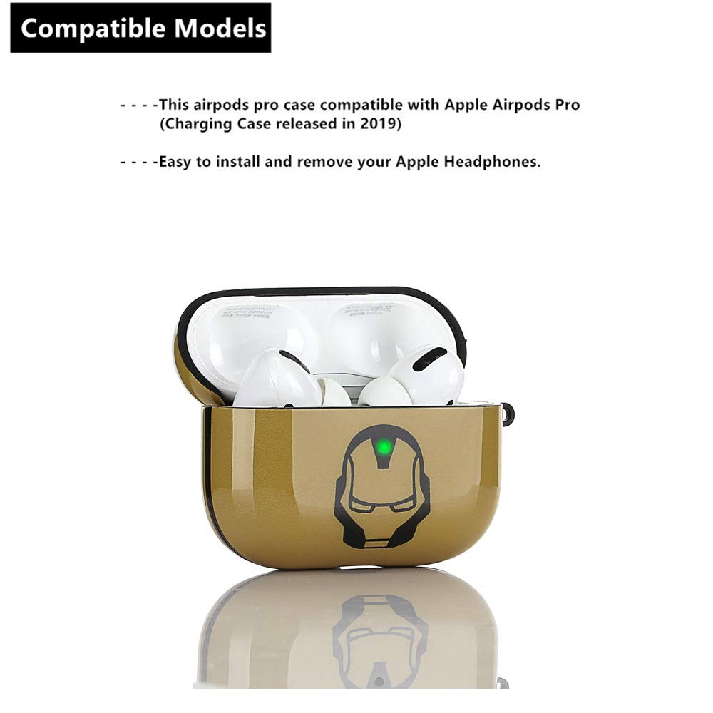 Dise/ño Transparente AJ LEWOTE Airpods Pro TPU Carcasa para Apple Airpods Pro