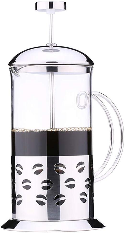 Prensa francesa Cafetera de vidrio Presión manual Presión de presión Olla de acero inoxidable Cafetera de alta temperatura Cerveza de filtro de café, Para oficina en casa Viajes: Amazon.es: Hogar