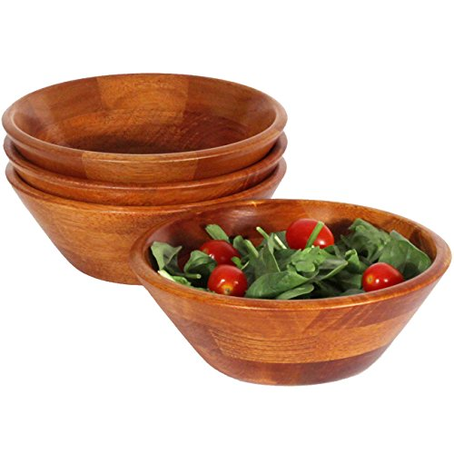 602N-4 Individual Salad Bowl (Set of 4), Walnut (Walnut Salad Bowl)