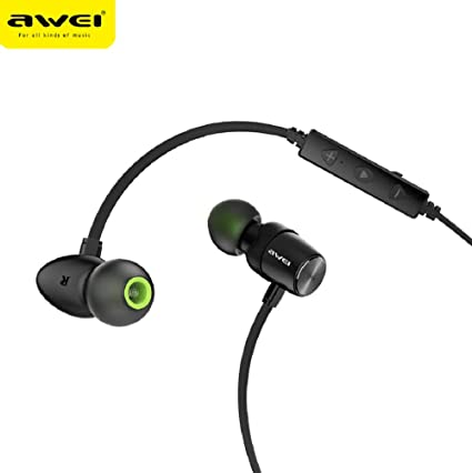 ZYX AWEI WT30 Wireless Sports Bluetooth Headset, Magnetic Metal, Stereo Sound Quality, no