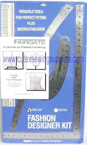 FAIRGATE FASHION DESIGNER'S RULER KIT #15-102 (INCHES)