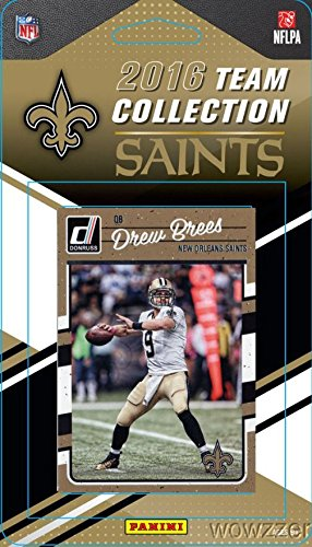 New Orleans Saints 2016 Donruss NFL Football Factory Sealed Limited Edition 12 Card Complete Team Set with Drew Brees,Mark Ingram,Vonn Bell,Legend Archie Manning & Many More! Shipped in Bubble Mailer! - New Orleans Saints Legend