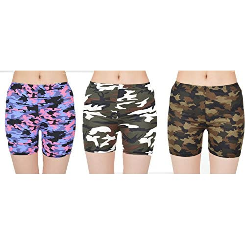 Cheap Docele Women\'s Junior Camo Shorts (3-Pack) hot sale HSnJqxlX