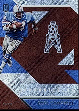592f38d33 2016 Unparalleled Football  34 Earl Campbell Houston Oilers Official NFL  Trading Card Produced By Panini