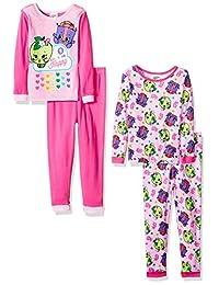 Shopkins Girls Girls' Cotton Pajama-4-piece Set