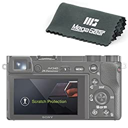 Megagear LCD Optical Screen Protector for Sony Alpha a6500 ILCE-6500, A6000, ILCE-6000, A6300, ILCE-6300, A5100, ILCE-5100 Screen Protector