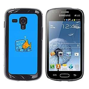 EJOY---Cubierta de la caja de protección la piel dura para el / Samsung Galaxy S Duos S7562 / --Fish lectura
