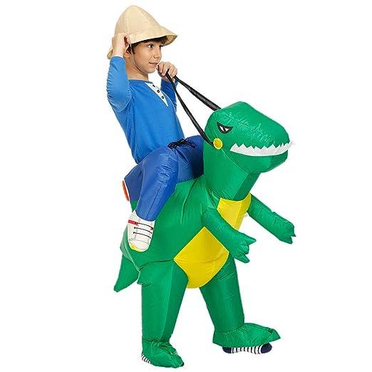 Gmorosa Disfraz de Dinosaurio Inflable para Cosplay, Verde ...