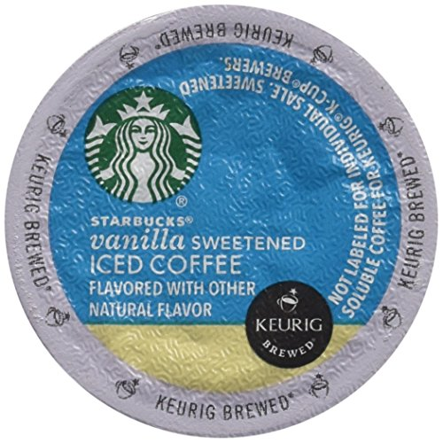 Starbucks Sweetened Vanilla Iced Coffee, K-Cup for Keurig Brewers, 10 count (K Cups Iced Coffee compare prices)