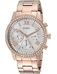 GUESS Women's Quartz Stainless Steel Casual Watch, Color:Rose Gold-Toned (Model: U1069L3)